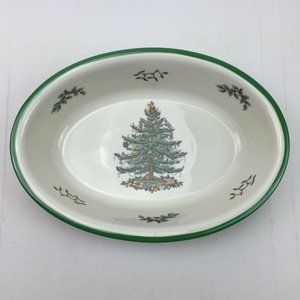 Vintage Spode Christmas Tree Oval Vegetable Baker